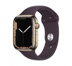 Apple Watch Series 7 GPS+Cellular 45mm Aço Inoxidável Dourado c/ Bracelete Desportiva Cereja escura