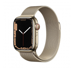 Apple Watch Series 7 GPS+Cellular 41mm Aço Inoxidável Dourado c/ Bracelete Loop Milanesa Dourada