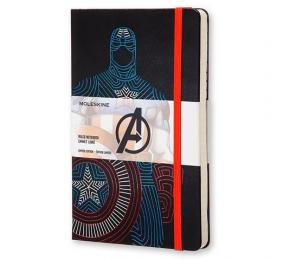 Caderno Grande Pautado Moleskine Os Vingadores - Capitão América