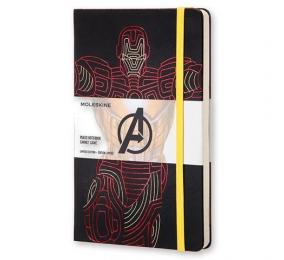 Caderno Grande Pautado Moleskine Os Vingadores - Homem de Ferro