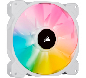 Ventoinha 140mm Corsair 1200RPM SP140 RGB ELITE White 4 Pinos PWM (Single Pack)