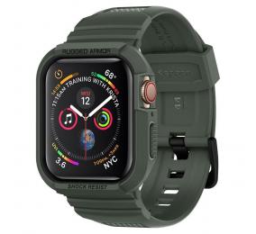 Bracelete Spigen Rugged Armor Pro Apple Watch Series SE / 6 / 5 / 4 44mm Verde