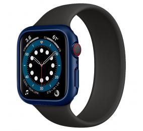 Capa Spigen Thin Fit Apple Watch Series SE / 6 / 5 / 4 44mm Azul Metálico