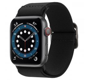 Bracelete Spigen Lite Fit Apple Watch Series SE / 6 / 5 / 4 44mm Preta