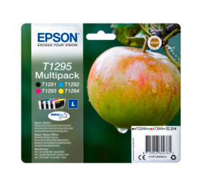 Tinteiro Epson Original Multipack 4 Cores T1295 DURABrite Ultra
