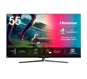 "Televisão Plana Hisense Série U8QF SmartTV 55"" LED 4K UHD"