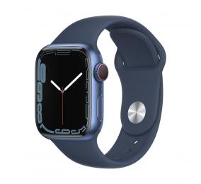 Apple Watch Series 7 GPS+Cellular 41mm Alumínio Azul c/ Bracelete Desportiva Azul Abissal