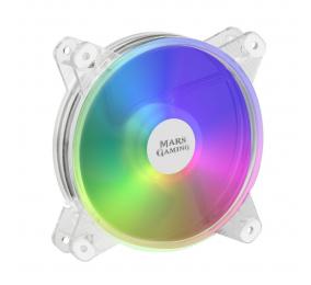Ventoinha 120mm Mars Gaming 1100RPM MFD RGB 4 Pinos Transparente c/ Controlador