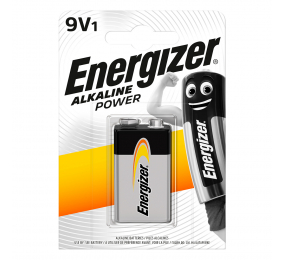 Pilha Alcalina Energizer Alkaline Power 9V 6LR61 (1 Unidade)