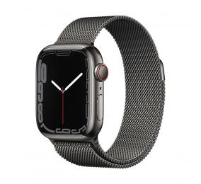 Apple Watch Series 7 GPS+Cellular 41mm Aço Inoxidável Grafite c/ Bracelete Loop Milanesa