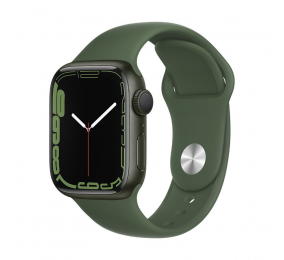 Apple Watch Series 7 GPS 41mm Alumínio Verde c/ Bracelete Desportiva Trevo