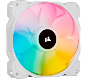 Ventoinha 120mm Corsair 1500RPM SP120 RGB ELITE White 4 Pinos PWM (Single Pack)