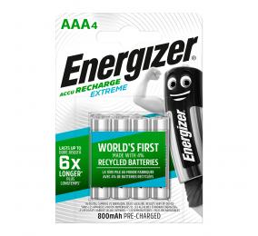 Pilhas Recarregáveis Energizer Blister 1.2V LR03 AAA (4 Unidades)