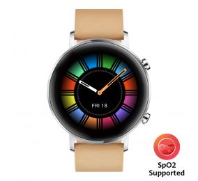 Smartwatch Huawei Watch GT 2 42mm Classic Areia (suporta SpO2)