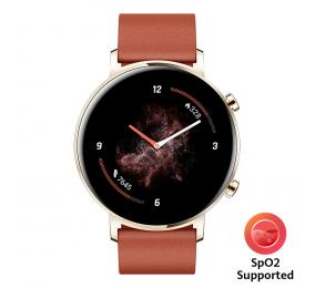 Smartwatch Huawei Watch GT 2 42mm Classic Castanho Avermelhado (suporta SpO2)