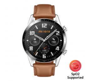 Smartwatch Huawei Watch GT 2 46mm Classic Castanho (suporta SpO2)
