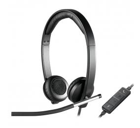 Headset Logitech H650e Stereo USB Preto