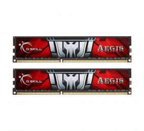 Memória RAM G.SKILL Aegis 8GB (2x4GB) DDR3-1600MHz CL11 Vermelha