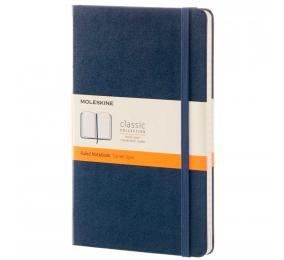 Caderno Grande Pautado Moleskine Clássico Azul Safira