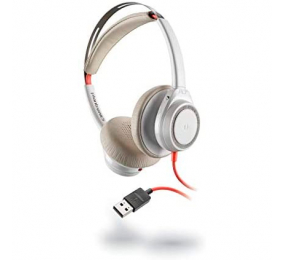 Headset Plantronics Poly Blackwire 7225 Branco USB-A