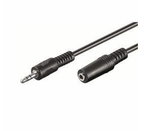 Cabo Extensão de Áudio Ewent EW-220200 Jack 3.5mm Macho/Fêmea 2m Preto
