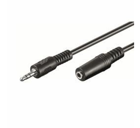 Cabo Extensão de Áudio Ewent EW-220200 Jack 3.5mm Macho/Fêmea 5m Preto
