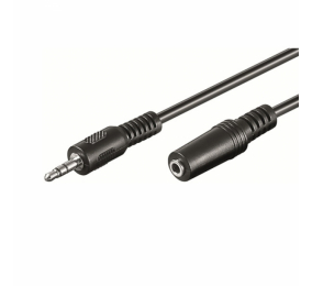 Cabo Extensão de Áudio Ewent EW-220200 Jack 3.5mm Macho/Fêmea 10m Preto