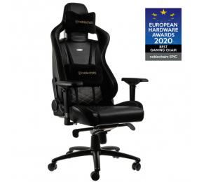 Cadeira Gaming Noblechairs EPIC PU Leather Preta/Dourada