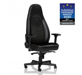 Cadeira Gaming Noblechairs ICON PU Leather Preta/Dourada