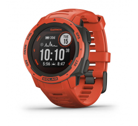 Smartwatch Garmin Instinct Solar Vermelho Fogo