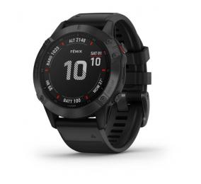 Smartwatch Garmin Fenix 6 Pro Preto c/ Bracelete Preta