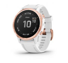 Smartwatch Garmin Fenix 6S Pro Rosa Dourado c/ Bracelete Branca