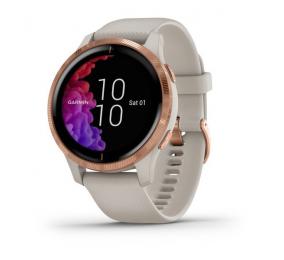 Smartwatch Garmin Venu Cor de Areia c/ Material Rosa Dourado