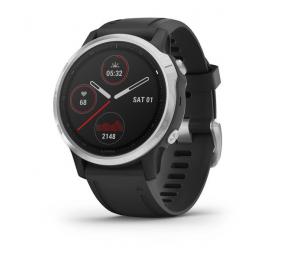 Smartwatch Garmin Fenix 6S Prateado c/ Bracelete Preta