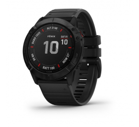 Smartwatch Garmin Fenix 6X Pro Preto c/ Bracelete Preta