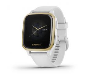 Smartwatch Garmin Venu SQ Branco/Dourado Claro