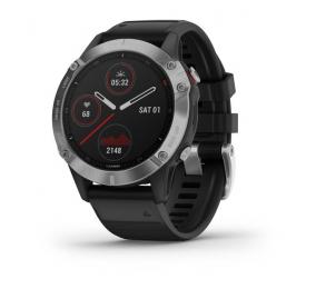 Smartwatch Garmin Fenix 6 Prateado c/ Bracelete Preta