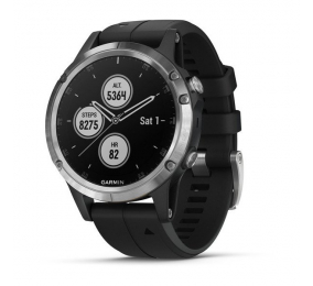 Smartwatch Garmin Fenix 5 Plus Prateado c/ Bracelete Preta