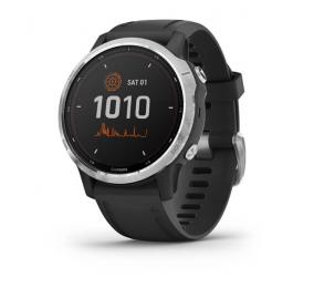 Smartwatch Garmin Fenix 6S Solar Prateado c/ Bracelete Preta