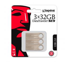 Pen Drive Kingston DataTraveler SE9 32GB USB 2.0 (Pack 3)