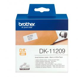 Etiquetas pré-cortadas Brother DK11209 Branco 29 x 62 mm