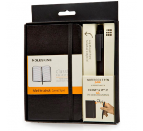 Bundle Moleskine - Moleskine Pocket Notebook + Classic Click Roller Pen - 0.5mm