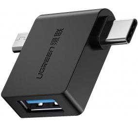 Adaptador OTG UGREEN USB-C e USB-A Preto