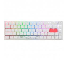 Teclado Mecânico Ducky ONE 2 SF RGB ABS PT 65% Pure White MX Silent Red