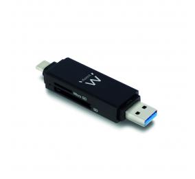 Leitor de Cartões Ewent EW1075 USB 3.1 Gen1 (USB 3.0) Preto