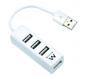 Hub USB Ewent EW1122 4 Portas USB 2.0 Branco