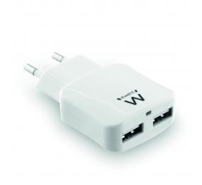 Carregador Ewent EW1302 2 Portas USB 2.4A Branco