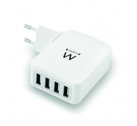 Carregador Ewent EW1304 4 Portas USB 5.4A Branco