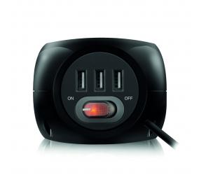 Régua Ewent EW3938 Cube Power 3 Tomadas Schuko + 3 USB 2.4A Preto
