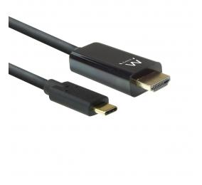 Cabo Ewent EW9824 USB-C para HDMI 4K/60Hz 2m Preto
